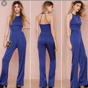 Cotton candy Nasty Gal Blue jumpsuit